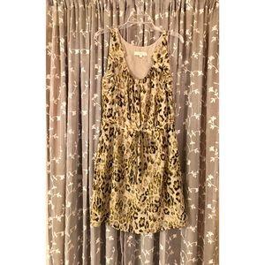 LOFT leopard print sleeveless dress
